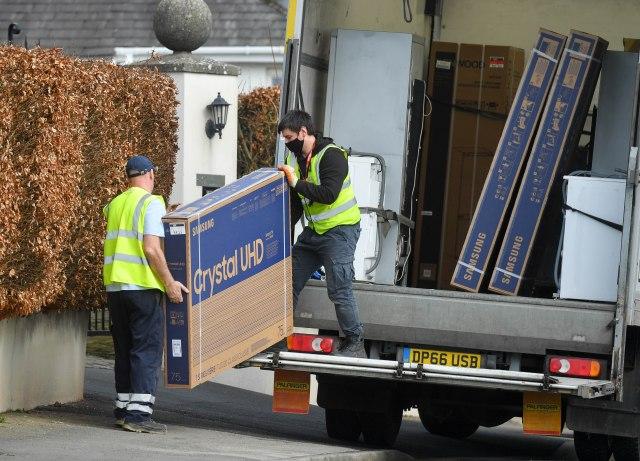 Tyson Fury took delivery of three £800 Samsung TVs