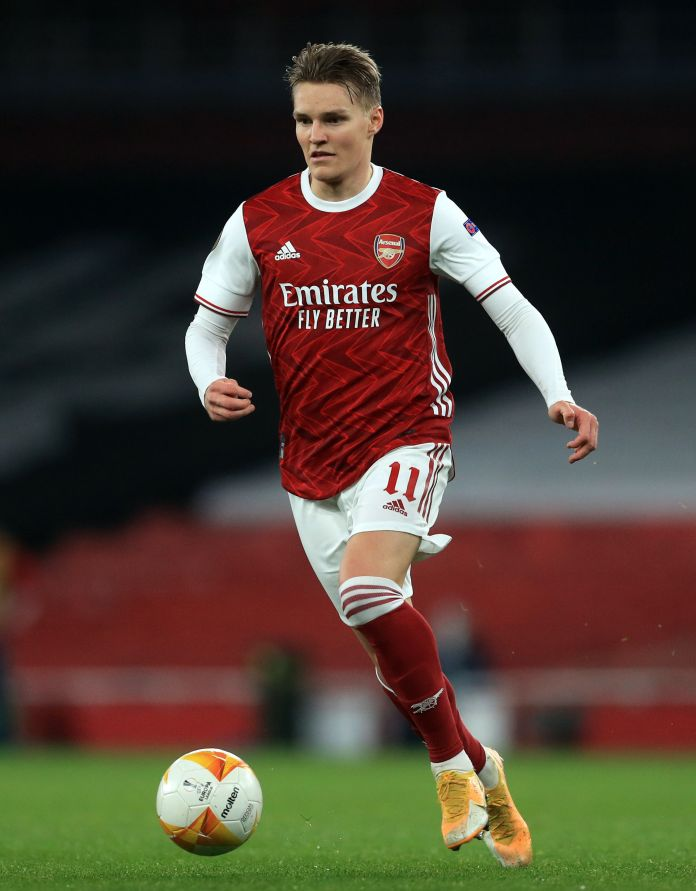 Arsenal are concerned Chelsea will swoop for Martin Odegaard at the end of the season