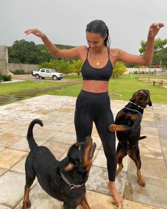 Lais shared this cute pooch snap on social media for fans