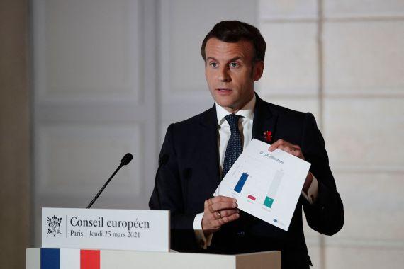 Emmanuel Macron slammed the UK for not exporting vaccines