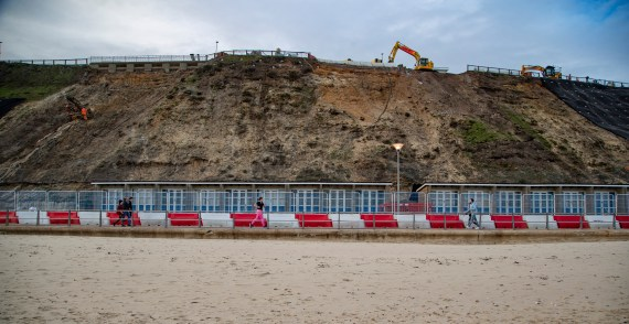 There has been significant movement in the cliffs since a huge landslip in 2017