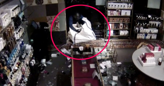 Atherton steals high end perfume from a luxury store in the UK capital