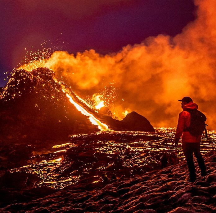 Mount Fagradalsfjall has erupted for the first time in 6,000 years