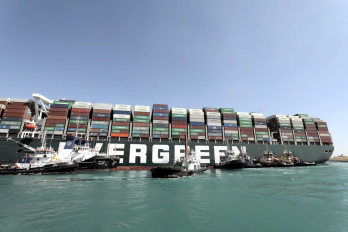 Two more tugboats were sent to try and free the stricken ship