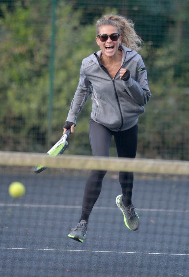 A tennis player was bursting with energy in Manchester