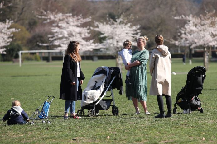 Outdoor parent and child groups can resume from today in groups of up to 15