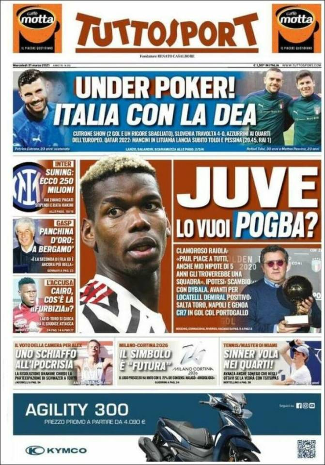 Tutto Sport are ramping up the speculation over Paul Pogba's potential return to Juventus