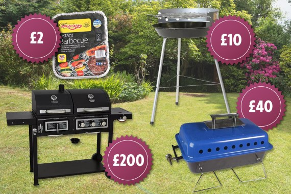 Prices for a disposable BBQ start at £2