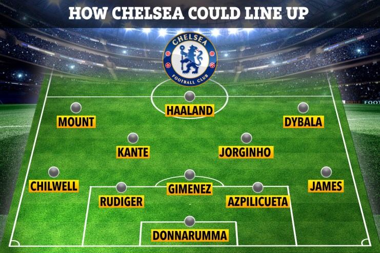 How Chelsea could line up with Timo Werner leaving and four stars arriving