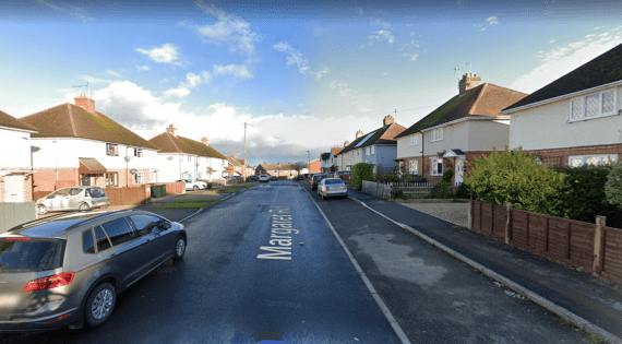 The man targeted the girls on Margaret Road in Gloucestershire