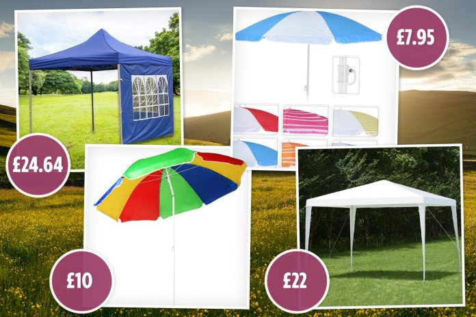 All the cheapest gazebos and parasols available online