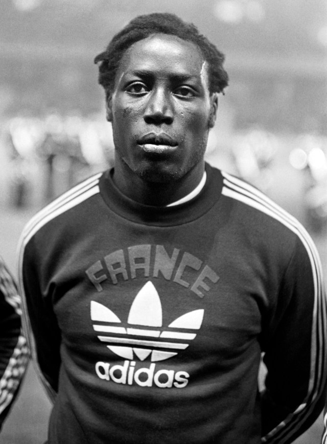 Nicknamed 'The Black Rock' Adams made his international debut for France in 1972