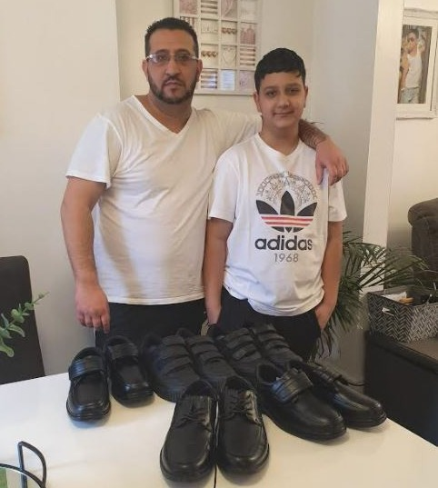 """Vaclav Carady, 12, was banned from class after his school said five pairs of shoes were """"unacceptable"""""""
