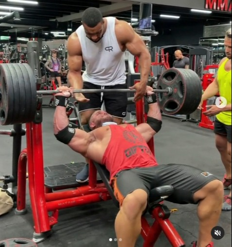 Ryan Crowley had been bench pressing at a gym in Dubai