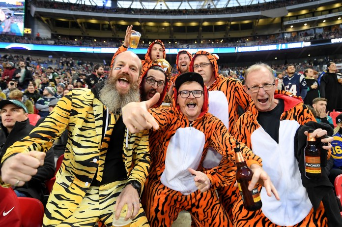 Fans from all teams attend the games in London every year