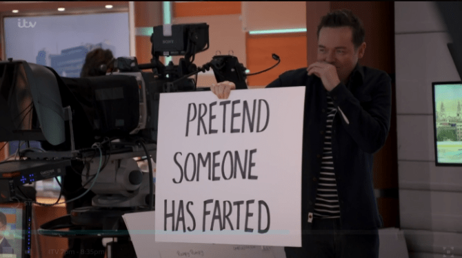 Ant and Dec and Stephen were behind-the-scenes of ITV daytime