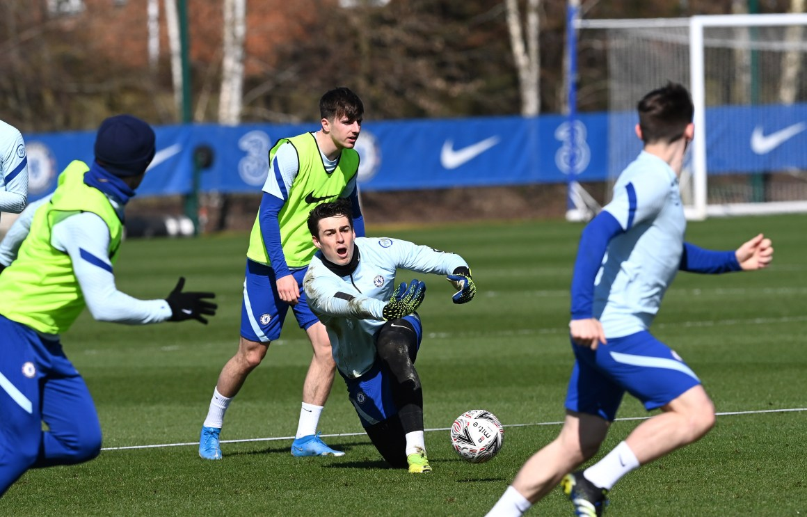 Antonio Rudiger and Kepa Arrizabalaga pulled apart after pushing match at  Chelsea training as defender sent in early