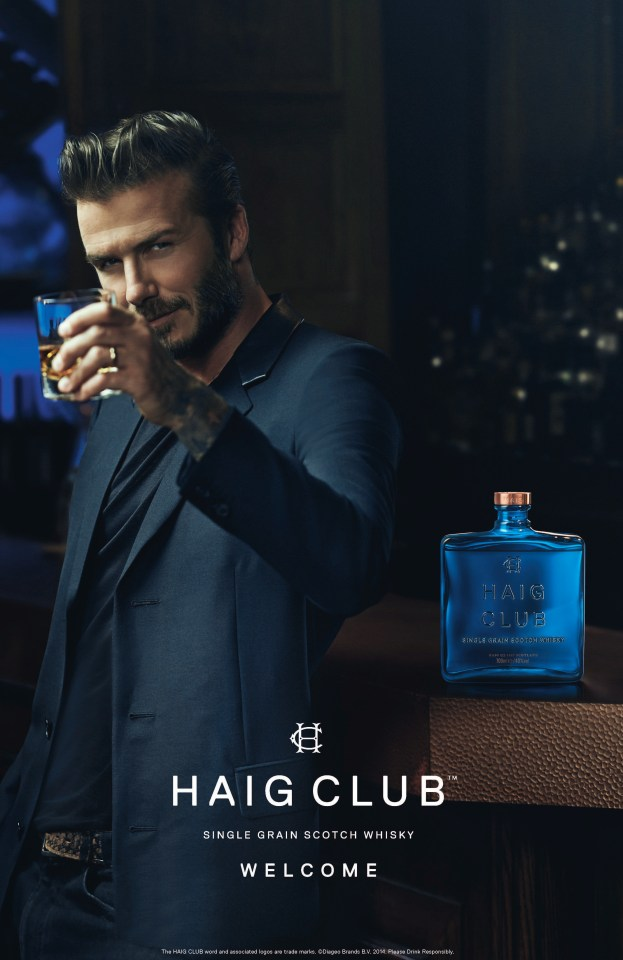 David has his own line of Haig Club whisky
