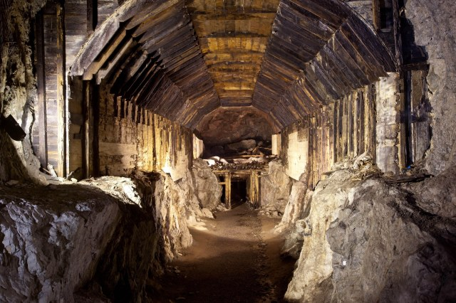 The Nazis were known for burying their valuables and secrets deep underground, and also used the subterranean systems (pictured) to travel through