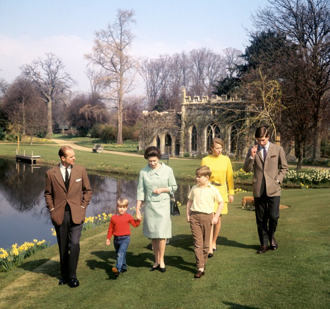 The Duke's four children, pictured in 1968, will follow on foot with the car carrying the coffin