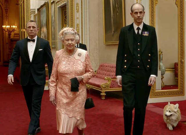 The Queen stole the show at the Olympic opening ceremony, when she announced: 'Good evening, Mr Bond'