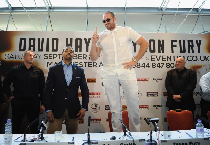 David Haye was scheduled to face Tyson Fury in 2013
