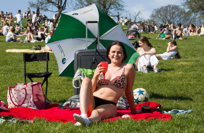 People flocked to Primrose Hill to celebrate the oncoming of summer and an ease of lockdown