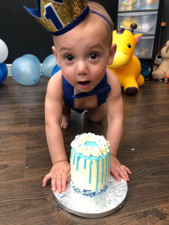 Harvey celebrated his first birthday at the weekend