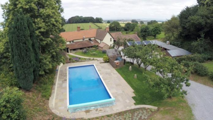 Stay in the countryside with access to a pool for hot days