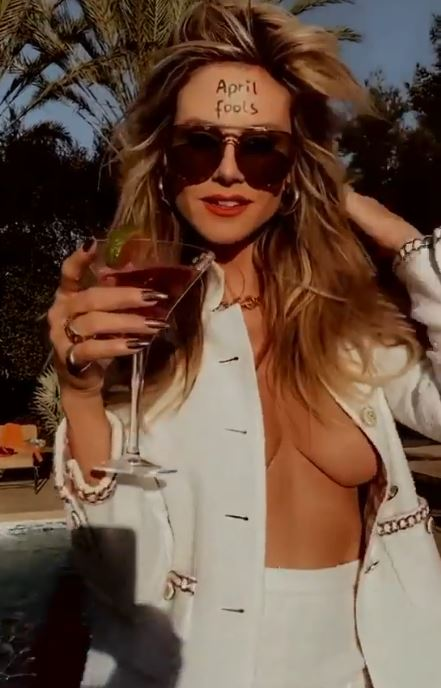Heidi sets the temperatures soaring as she cools down
