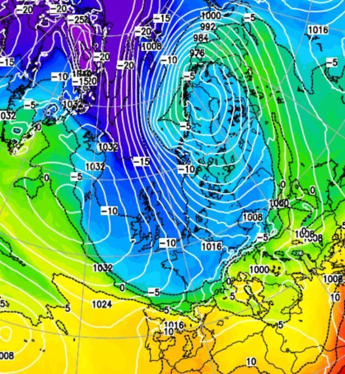 Temperatures will drop to -5C