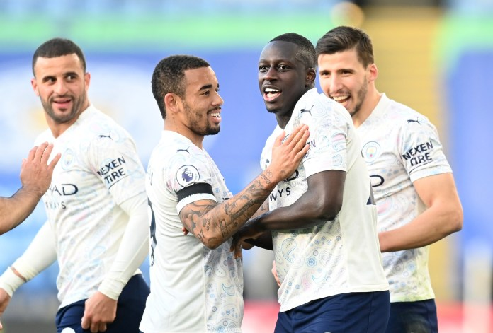 Benjamin Mendy and Jesus scored as Manchester City beat Leicester