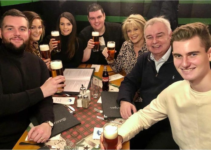 Eamonn photographed with his children Niall, Rebecca and Niall as well as wife Ruth and their son Jack from his first marriage