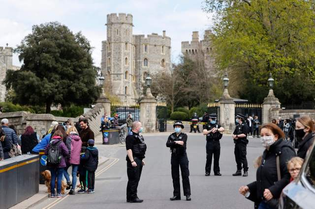 Officers were also patrolling by Windsor Castle