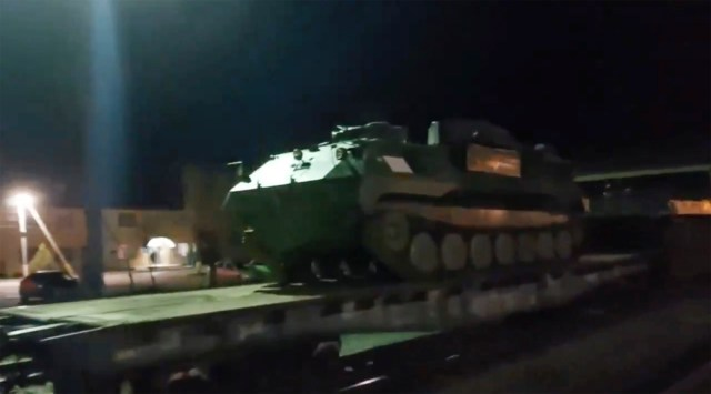 Russia has sent heavy armour to the border with Ukraine