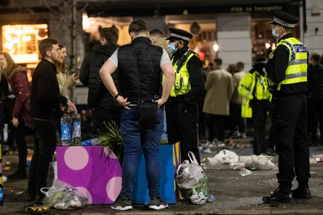 Rubbish was left strewn on the ground in Manchester