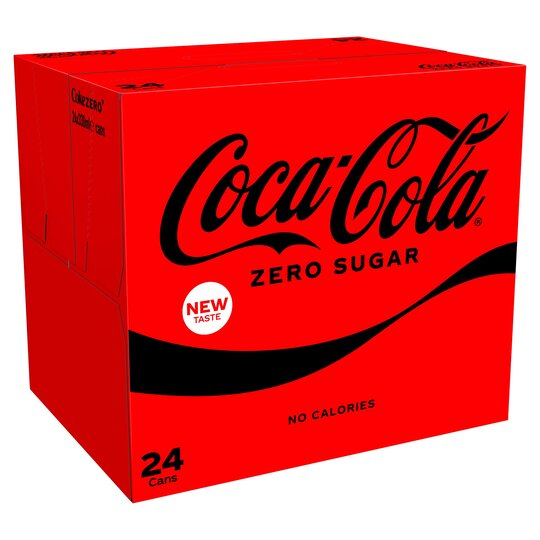 Save £1.50 on 24 cans of sugar-free Coca-Cola Zero with your Tesco Clubcard
