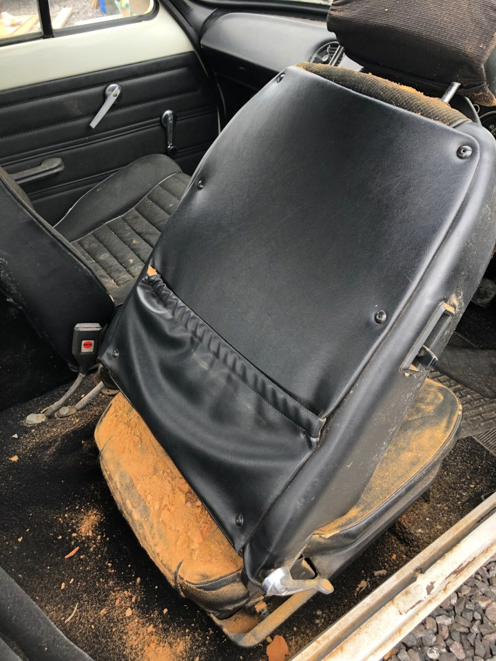 The 1975 Mk 1 RS2000 model is in a rusty state