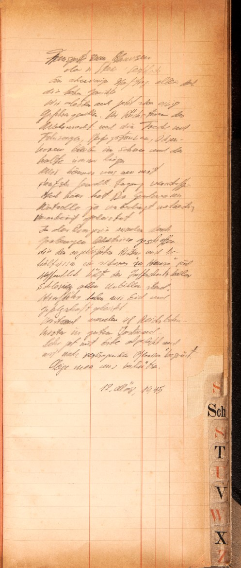 The pencil-written diary entries are believed to be written by a high-ranking SS officer