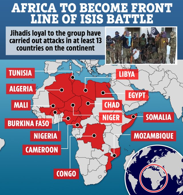 Jihadist groups are seizing swathes of land throughout Africa