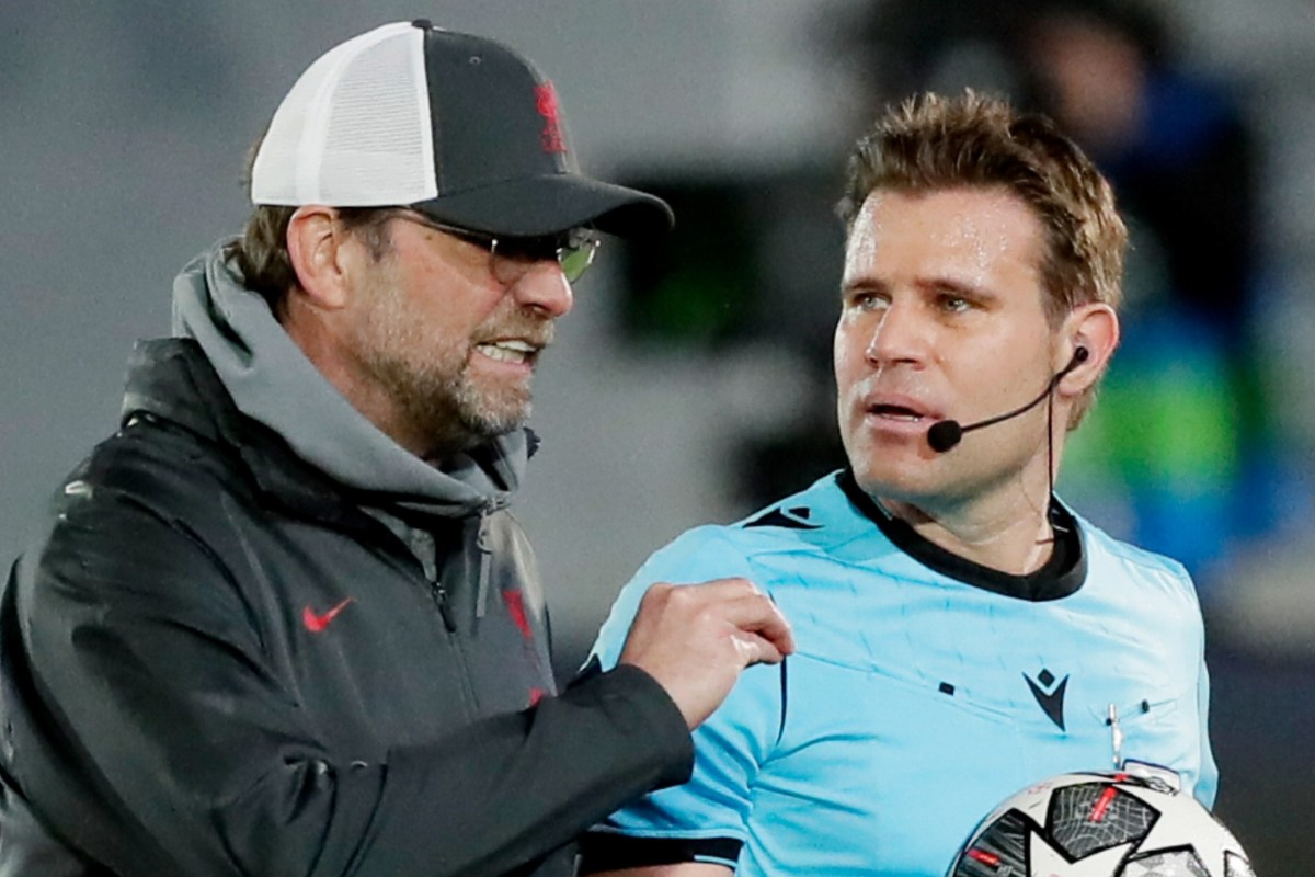 Jurgen Klopp blasts ref as Liverpool boss accuses Felix Brych of making  'personal' decisions against Reds ace Sadio Mane