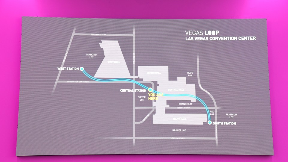 The two one-way vehicle tunnels will take convention attendees across a 200-acre convention campus for free