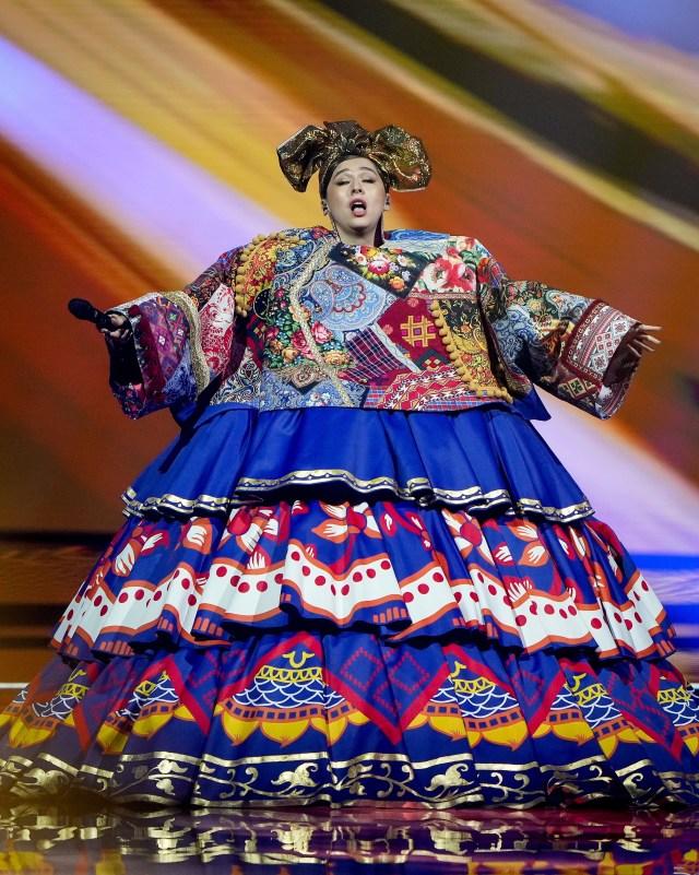 Russian doll Manizha's mad costume