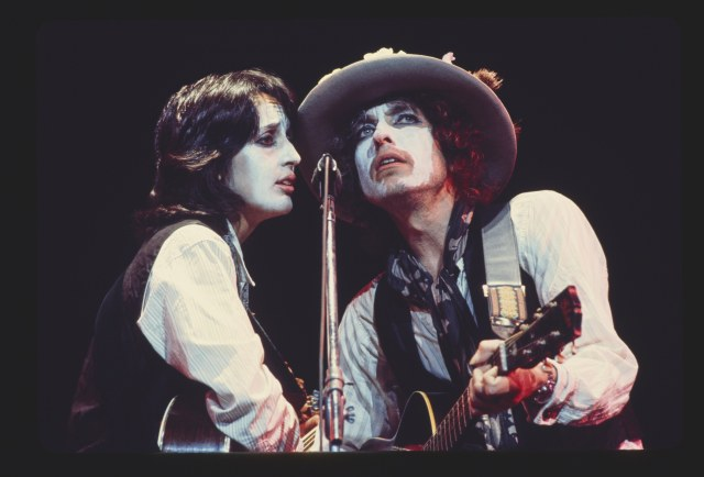 Joan Baez joined Dylan's Rolling Thunder Revue, a travelling circus of like-minded musicians and poets