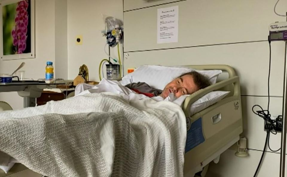 Derek was in hospital for a year after falling ill with Covid