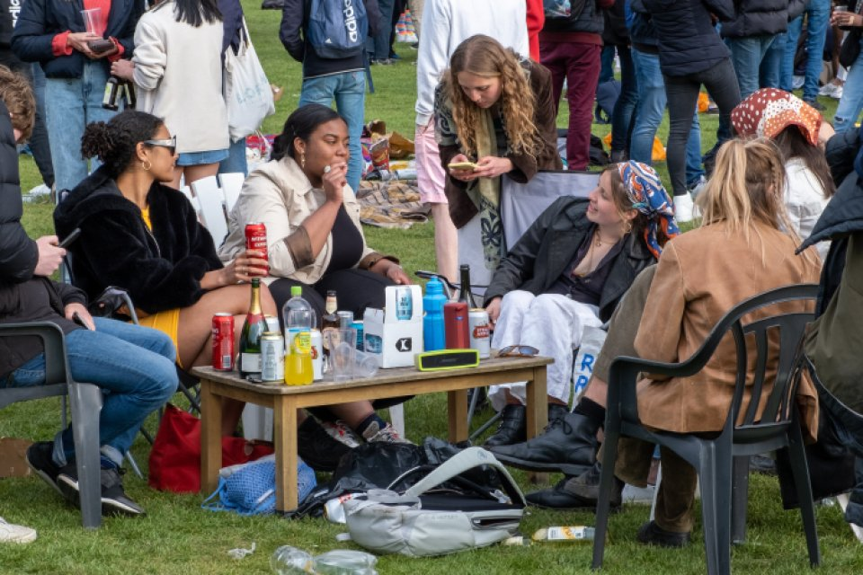 Some punters came to Jesus Green well prepared with chairs and a table