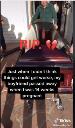 She was 14 weeks pregnant when he died