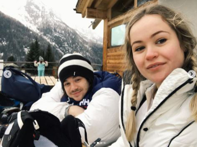 Harry enjoys skiing trips when he's away from the camera