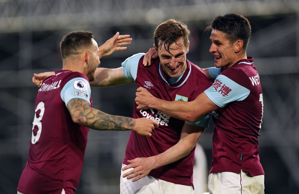 Chris Wood doubled Burnley's lead and condemned Fulham to defeat