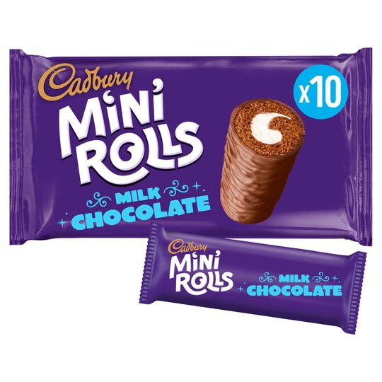 A ten-pack of Cadbury Mini Rolls is just £1.30 for Tesco Clubcard holders